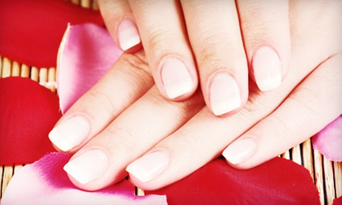 Glitz-N-Glamour Eyelash Bar & Spa - West Ashley: One or Three Mani-Pedis or Two Pedicures with a Paraffin Dip at Glitz-N-Glamour Eyelash Bar & Spa (Up to 64% Off)