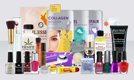 Christmas Beauty Mystery Box with Six or 12 Products for Skin, Nail and Hair Care
