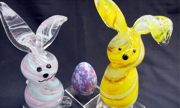 Uptown Glassworks - Industrial District East: Bunny-, Egg-, or Flower-Themed Glass-Blowing Experience for One or Two at Uptown Glassworks (Up to 60% Off)