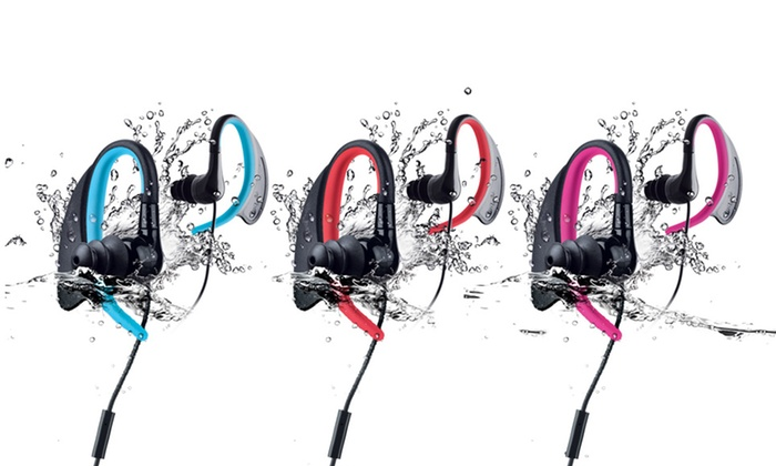 Merkury Innovations Waterproof Sport Earbuds with Microphone: Merkury Innovations Waterproof Sport Earbuds with Microphone