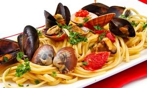 LE TENTAZIONI DEL BRACIERE: Menu di pesce con 4 portate e bottiglia di vino