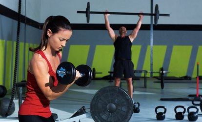 On-Ramp, <strong><strong>Crossfit</strong></strong>, High School Strength & Conditioning or 5 Personal Training Sessions at Steel Plate <strong><strong>Crossfit</strong></strong> (Up to 73% Off)