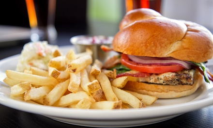 Burgers and American Food at JP's Place (50% Off). Two Options Available.