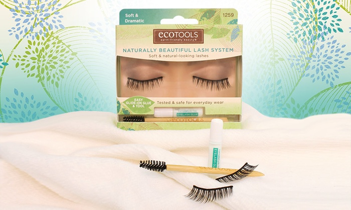3-Pack or 6-Pack of Ecotools False Eyelashes: 3-Pack or 6-Pack of Ecotools False Eyelashes. Multiple Styles Available from $13.99–26.99.
