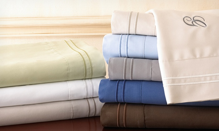 Bellissimo Monogrammed Sheet Set: Bellissimo Monogrammed Sheet Set (Up to 75% Off). 8 Colors Available. Free Shipping and Returns.