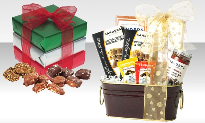 Sanders Chocolate Bundles: Sanders Chocolate Bundles. Multiple Sets Available from $13.99–$24.99.