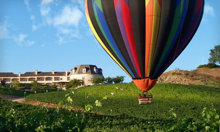 Sunrise Balloons Wine Country Package with the Inn at Churon Winery - Murrieta: 1-Night Stay with Hot Air Balloon Flight or Limousine Winery Tour at Inn at Churon Winery in Temecula, CA
