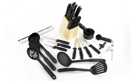 41 piece kitchen gadget set groupon goods for Kitchen set groupon