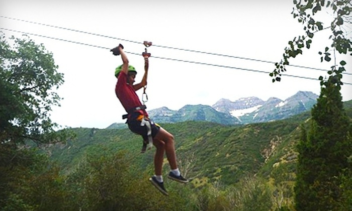 Max Zipline - American Fork-Pleasant Grove: $30 for a Zipline Canopy Tour from Max Zipline ($60 Value)