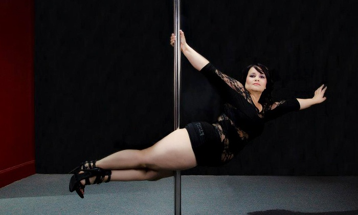 Polesque Vixens - Merced: Four Pole-Fitness Classes or One Month of of Unlimited Classes at Polesque Vixens (Up to 71% Off)