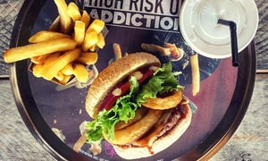 BurgerFuel: Choice of Burger with Spud Fries for One, Two or Four with Optional Delivery from BurgerFuel (Up to 36% Off)