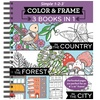 Three-in-One Color and Frame Book