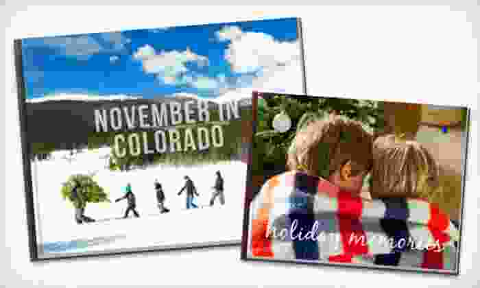"""Picaboo: One 8""""x8"""", One 12""""x12"""" or 11""""x14"""", or Two 8.5""""x11"""" Classic Custom Hardcover Photo Books from Picaboo (Up to 68% Off)"""