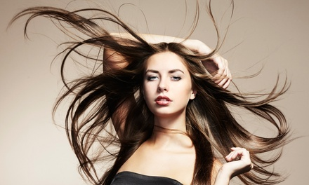 Haircut and a Blowout Style with Deep Conditioning or Full Highlights at Hair Matters Salon and Barber (Up to 59% Off)