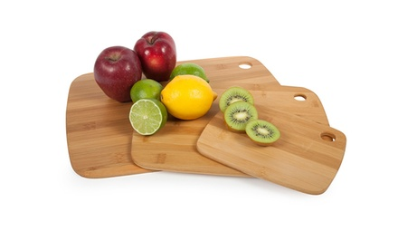Set of 3 Core Bamboo Cutting Boards in Classic, Pinstripe, or Two-Tone