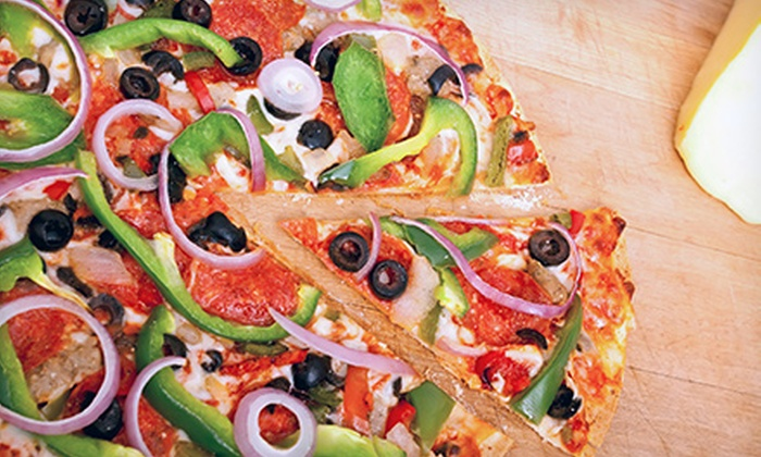 Heritage Pizza - Lockport: $10 for One Family-Size Pizza with Up to Two Toppings for Dine-In or Carryout at Heritage Pizza (Up to $21.95 Value)