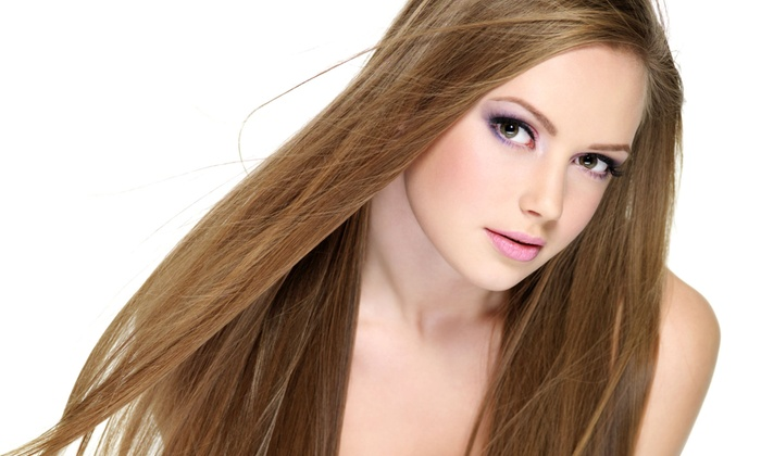 Halo Salon - Costa Mesa: Keratin Treatment or Haircut Packages at Halo Salon (Up to 65% Off). Three Options Available.