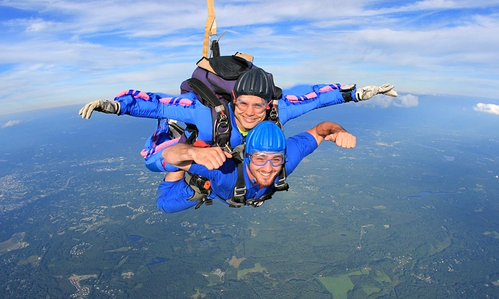 Skydive Pepperell - Southwest Nashua: $165 for an All-Inclusive Tandem Skydive Jump from Skydive Pepperell ($240 Value)