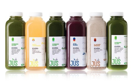 One or Two Three-Day Juice Cleanses with Option for 12 Booster Shots from Jus by Julie (Up to 34%...