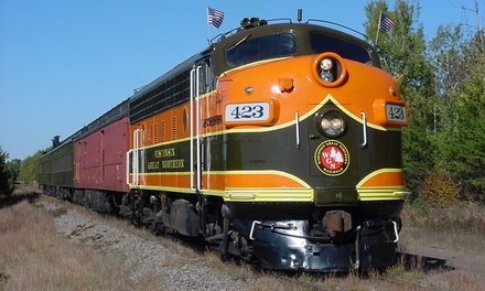 $211 for a Dinner-Train Bed-and-Breakfast Package for Two ($329 Value)