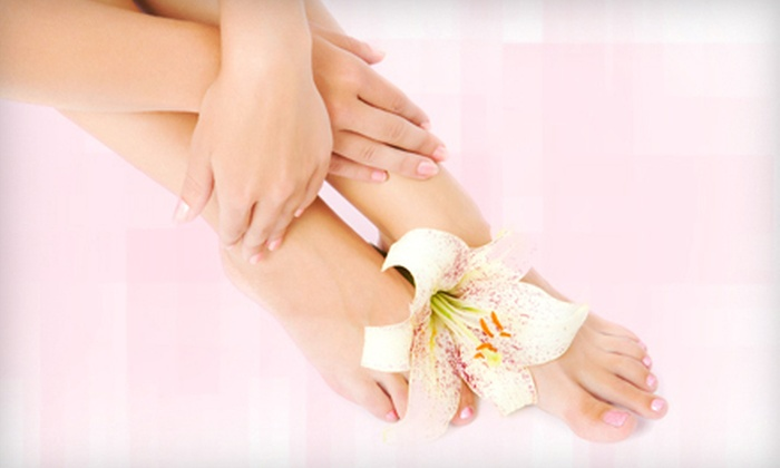 St. Tropez Nail Spa - Fairview: One or Two Spa Mani-Pedis at St. Tropez Nail Spa (Up to 54% Off)