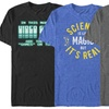 Men's Cotton Gaming and Science T-Shirt. Extended Sizes Available.