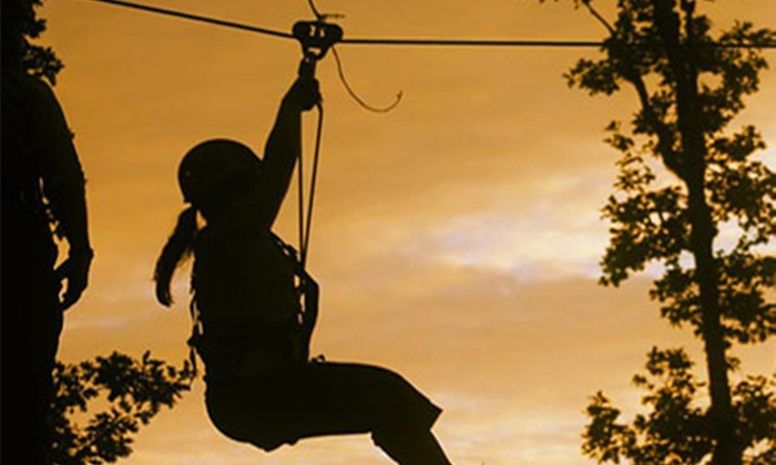 Tree to Tree Adventure Park - Between Portland and The Coast: $55 for Fall Aerial Adventure Course Package at Tree to Tree Adventure Park (Up to $100 Value)