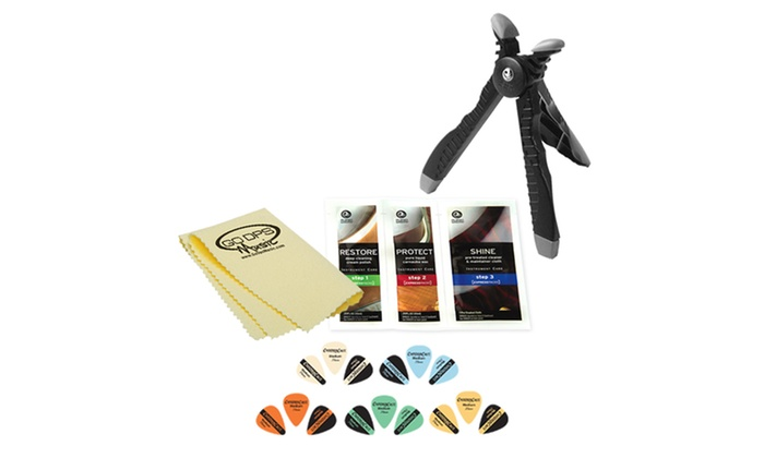 Planet Waves Guitar Stand & Accessories: Planet Waves Guitar Head Stand with Maintenance Accessories and Picks. Free Returns.