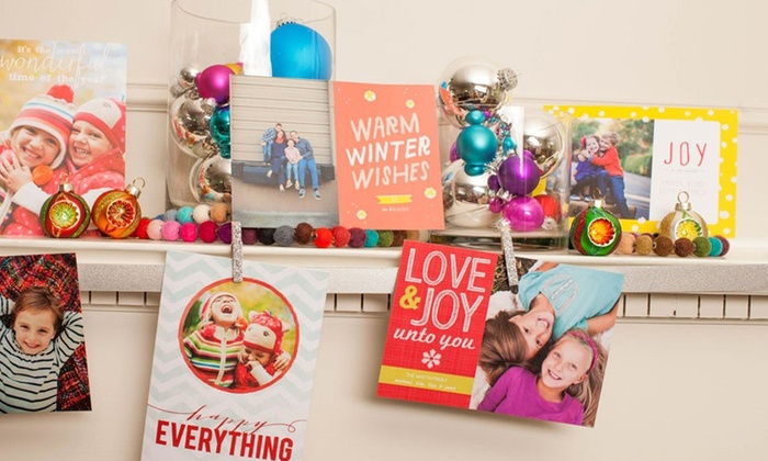 """Picaboo Personalized Holiday Photo Cards : 40, 70 or 100 5""""x7"""" Custom Holiday Flat Cards with Envelopes from Picaboo. Multiple Options from $19–$36. Free Shipping."""