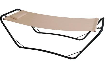 Amaca con supporto Java in acciaio e PVC di colore beige