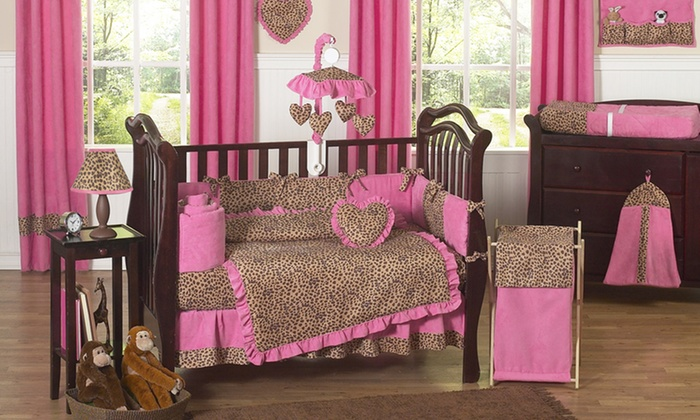 Sweet Jojo Pink Cheetah Nursery Bundle