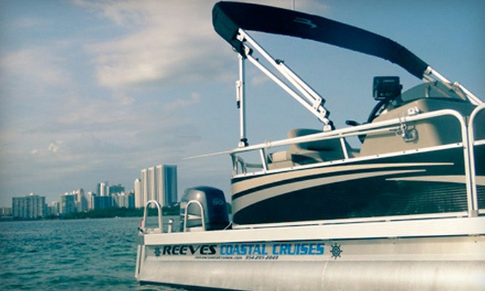 Reeves Coastal Cruises - Hollywood Beach - Quadoman: $109 for a Sunset-Cruise Boat Rental for Up to 10 at Reeves Coastal Cruises ($225 Value)