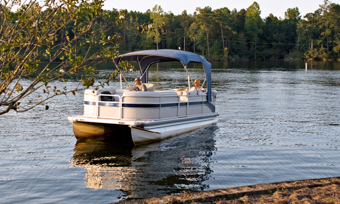 American Lady Yacht Cruises - Dubuque: Half-Day or Full-Day Pontoon-Boat Rentals at American Lady Yacht Cruises (50% Off). Eight Options Available.