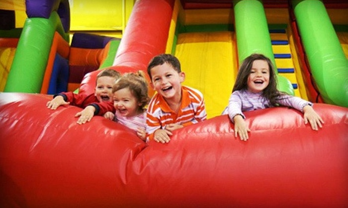Kangaroo Jac's - Greenbrier East: All-Day Inflatable-Playground Visit for Four, or Birthday Party for Up to 12 at Kangaroo Jac's (Up to 59% Off)