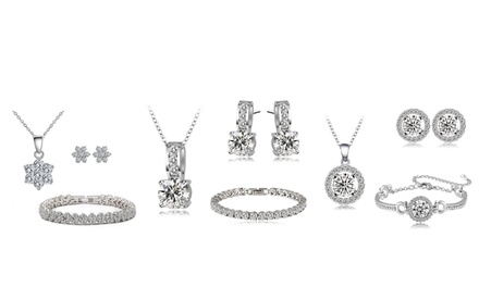 One (AED 109), Two (AED 189) or Three (AED 249) Tri Sets with Zircons from Swarovski® With Free Delivery (Up to 91% Off)