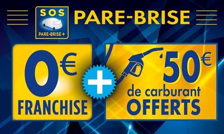 Remplacement du pare brise à 0 € de franchise avec 50 € de carburant offert à 5 € chez Sos Pare Brise +