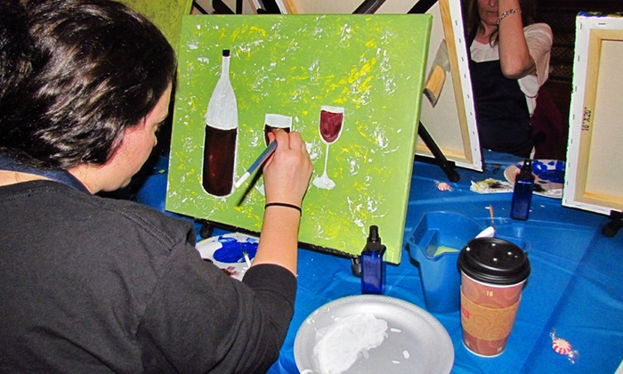 Canvas Nights - Multiple Locations: Two-Hour Painting Party for One or Two at Canvas Nights (Up to 46% Off)