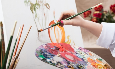BYOB Painting Class for 1, 2, or 4 Adults, or Private Painting Party for Up to 10 at Picasso's Corner (Up to $ Off)