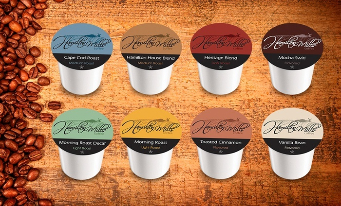 40 Assorted Coffee Cartridges:  40-Pack Sampler of Hamilton Mills Coffee Cartridges
