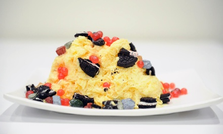$12 for Three Groupons, Each Good for $8 Worth of Shaved Snow and Desserts at The Snowflake Factory ($24 Total Value)