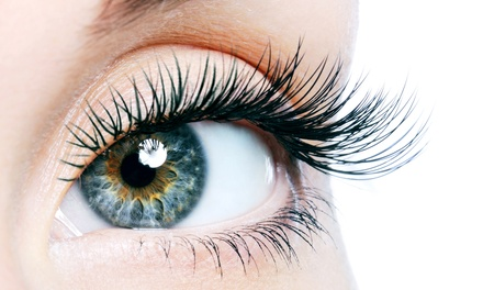 Full Set of Eyelash Extensions with Optional Three-Week Maintenance at A Little Skin Studio (Up to 42% Off)
