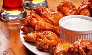 Mr. M's Hot Wings & Things Bar & Grill: Burgers, Pizza, & Bar Food at Mr. M's Hot Wings & Things Bar & Grill (Up to 50% Off). Three Options Available.