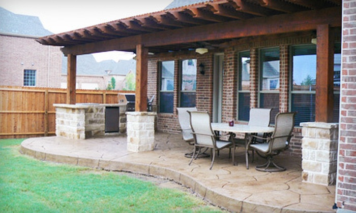 Complete Outdoor Concepts   Dallas: Construction Of Outdoor Patio And Arbor  With Optional Cooking Area