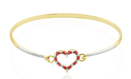Ruby and Diamond Accent Bracelet