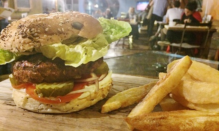Choice of Burger with Chips for One, Two or Four at Mud Dock Café (Up to 54% Off)