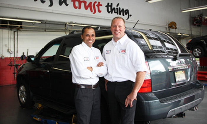 STS Tire and Auto Centers - Long Island: One or Two Oil Changes with Tire Rotation and Automotive Inspections at STS Tire and Auto Centers (Up to 77% Off)
