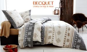 Becquet: Draps, couettes... Bon d'achat de 5 € donnant droit à 50 € et livraison gratuite sur le site Becquet dès 99 € d'achat