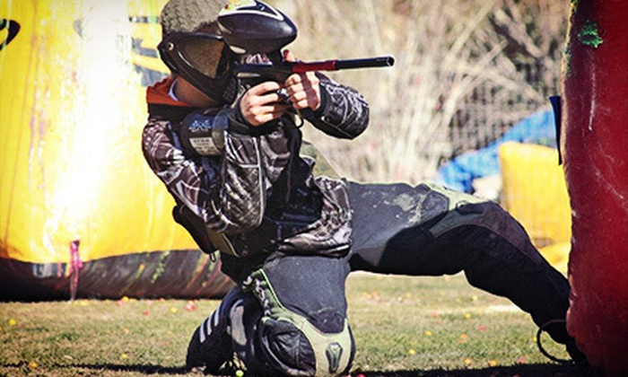 Cowtown Paintball - Peoria: $35 for an All-Day Paintball Package for Two with Equipment Rental and 500 Paintballs at Cowtown Paintball ($85 Value)