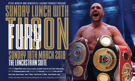 An Afternoon with Tyson Fury: VVIP, VIP, Standard or Entry Only Ticket, 18 March, The Lancastrian Suite (Up to 40% Off)