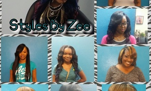 Styles By Zee: Traditional Partial or Full Sew-In or Bonded Weave at Styles By Zee (Up to 61% Off)